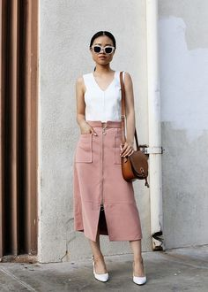 Smart casual outfit, classic style, feminine style