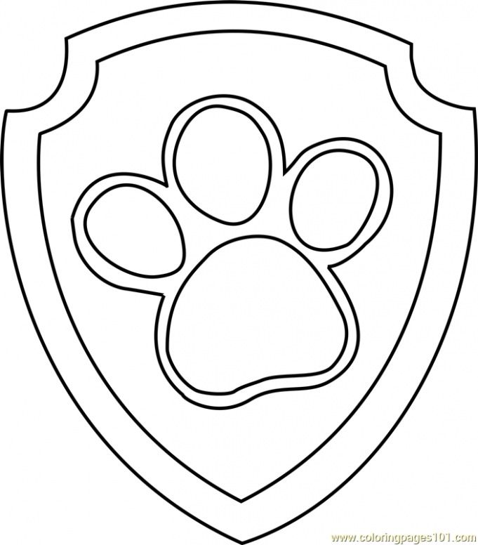 Get Paw Patrol Badge Free Colouring Pages Paw Patrol Badge Paw