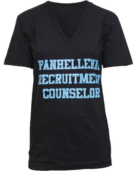 Recruitment Counselor Shirt! Hope your girls are ready to meet your Rho Gammas!