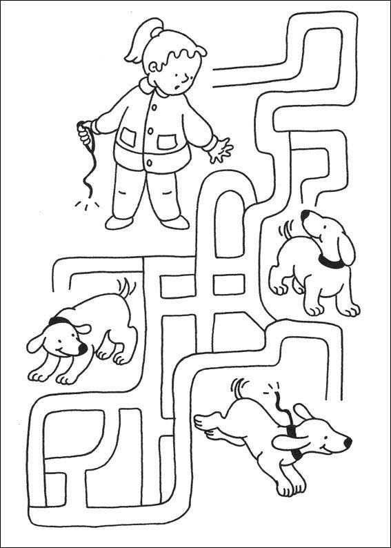 Labyrinth Leveel 2 von 5, Welchen Hund hat das Mädchen verloren? maze