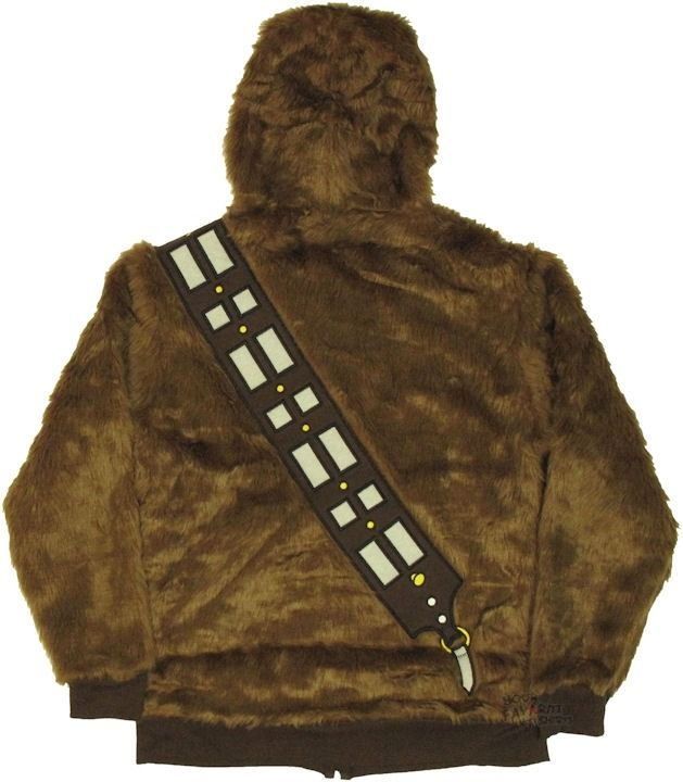 Star Wars I Am Chewbacca Wookie Costume Licensed Zip Up Furry Hoodie s XXL | eBay