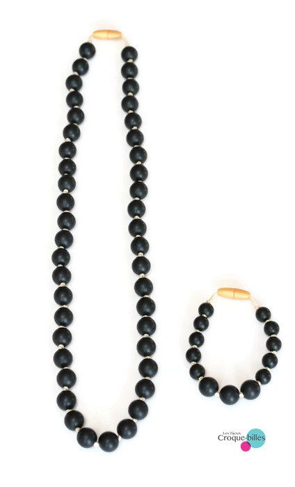 Duo collier de dentition et bracelet / Collier de par CroqueBilles