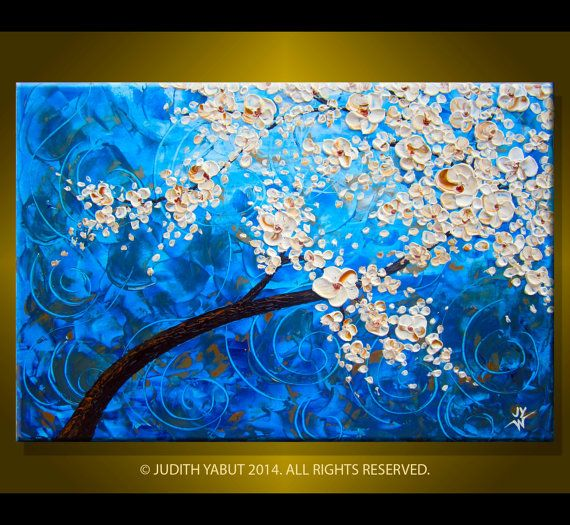 Original Painting Morning BloomsModern Abstract Art by studiox26, $255.00