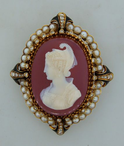 91 best antique museum quality cameos images on pinterest cameo antique c carved carnelian diamond pearl y gold cameo pendant brooch pin mozeypictures Images