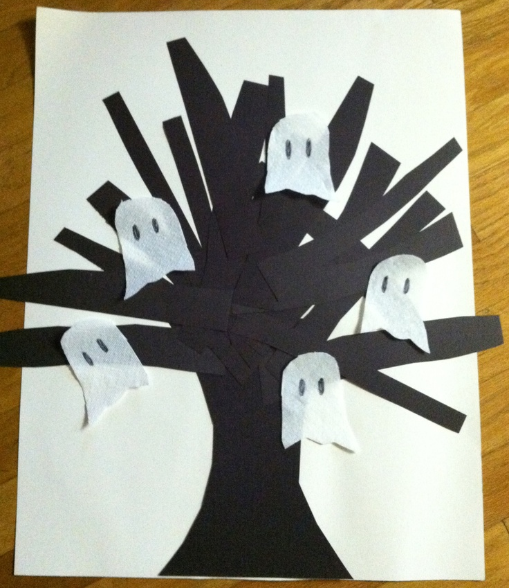 My daughter and I did this together today. Cute, cute! toddler-preschoo-halloween-ghost-craft