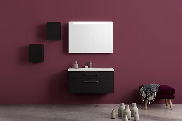 Aspen Badrum / Badrumsmöbler / Scandinavian / Bathroom Furniture / A100 Ikon Underskåp, A100 Spegelskåp, Väggskåp 30x40.