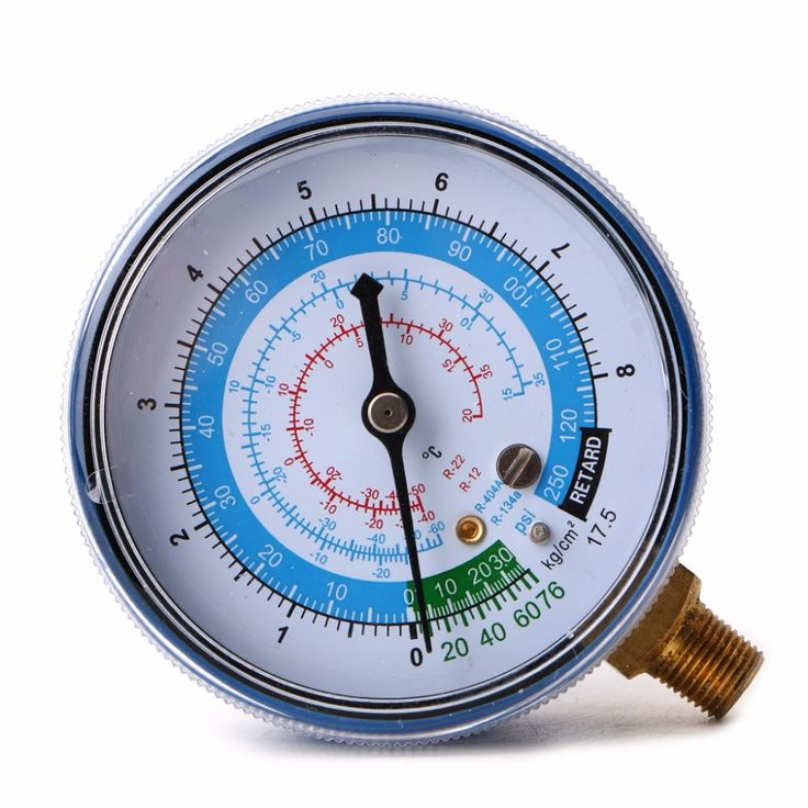 New Air Conditioner R410A R134A R22 Refrigerant Low Pressure Gauge PSI KPA Blue  828 Promotion