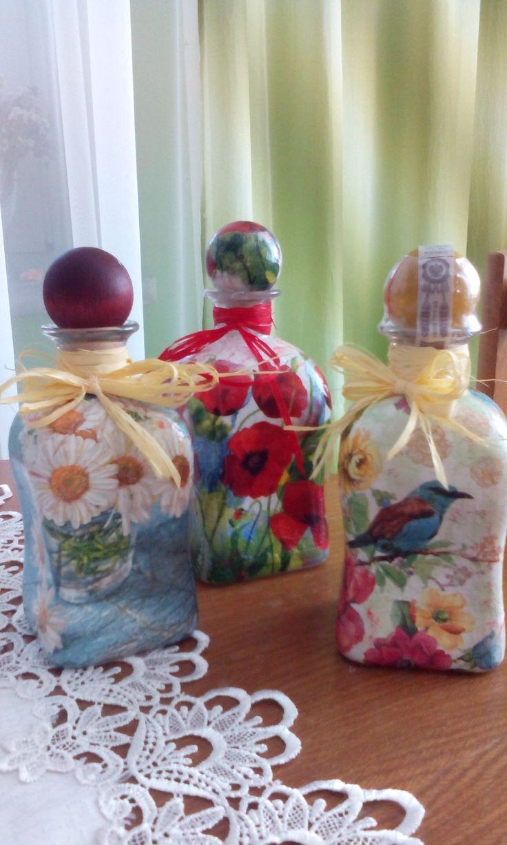kolorowe buteleczki