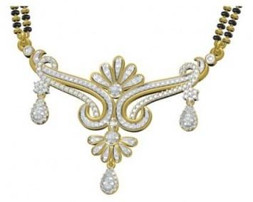 petals #Diamond #gold #mangalsutra