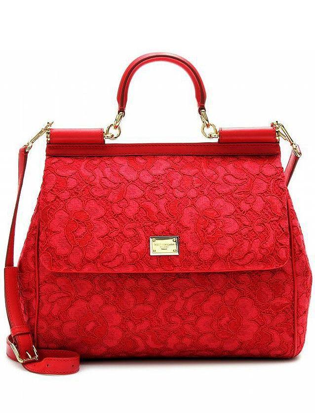 Dolce & Gabbana Sicilian fashion - red lace bag