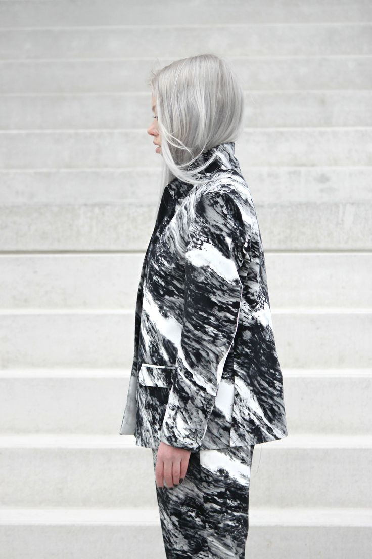 marbled suit