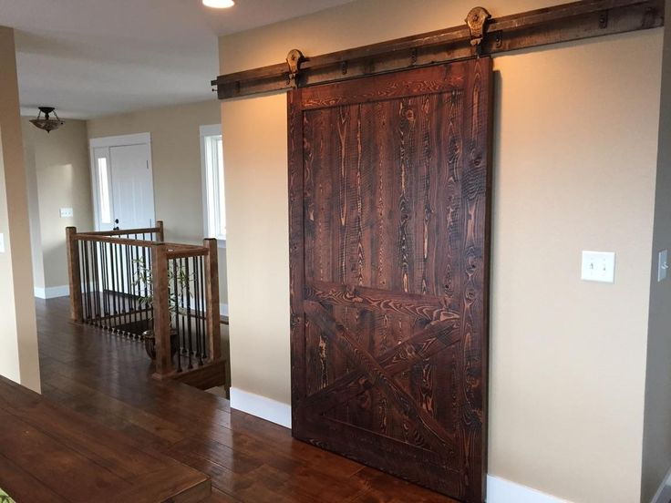 Rustic interior sliding barn doors are the new rave in modern rustic design. Shown here in our Mountain Collection Glacier color. From Sustainable Lumber ... & 15 best Reclaimed wood doors images on Pinterest | Wood doors Wood ...