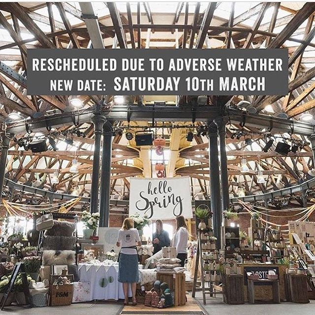 Due to the terrible weather forecast this event has been moved to next Saturday 10th March! We hope you can still make it!  #derby #derbyshirespringmarket #damnsnow #roundhouseevents