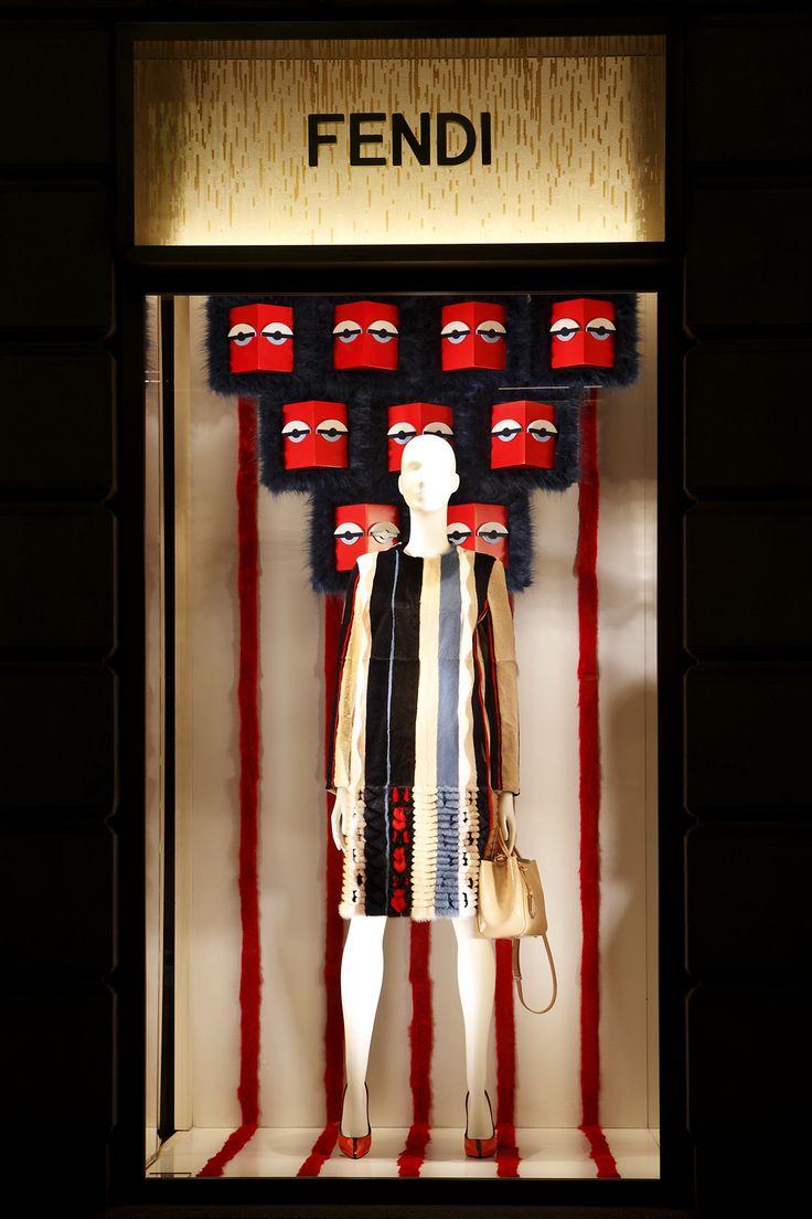 Milan boutique's Holiday Windows 2013
