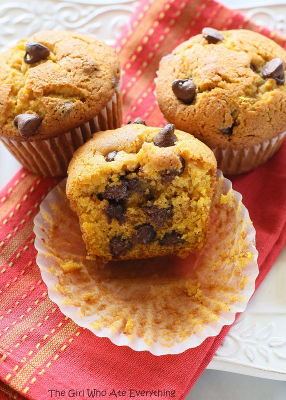 Pumpkin Chocolate Chip Muffins | The Girl Who Ate Everything