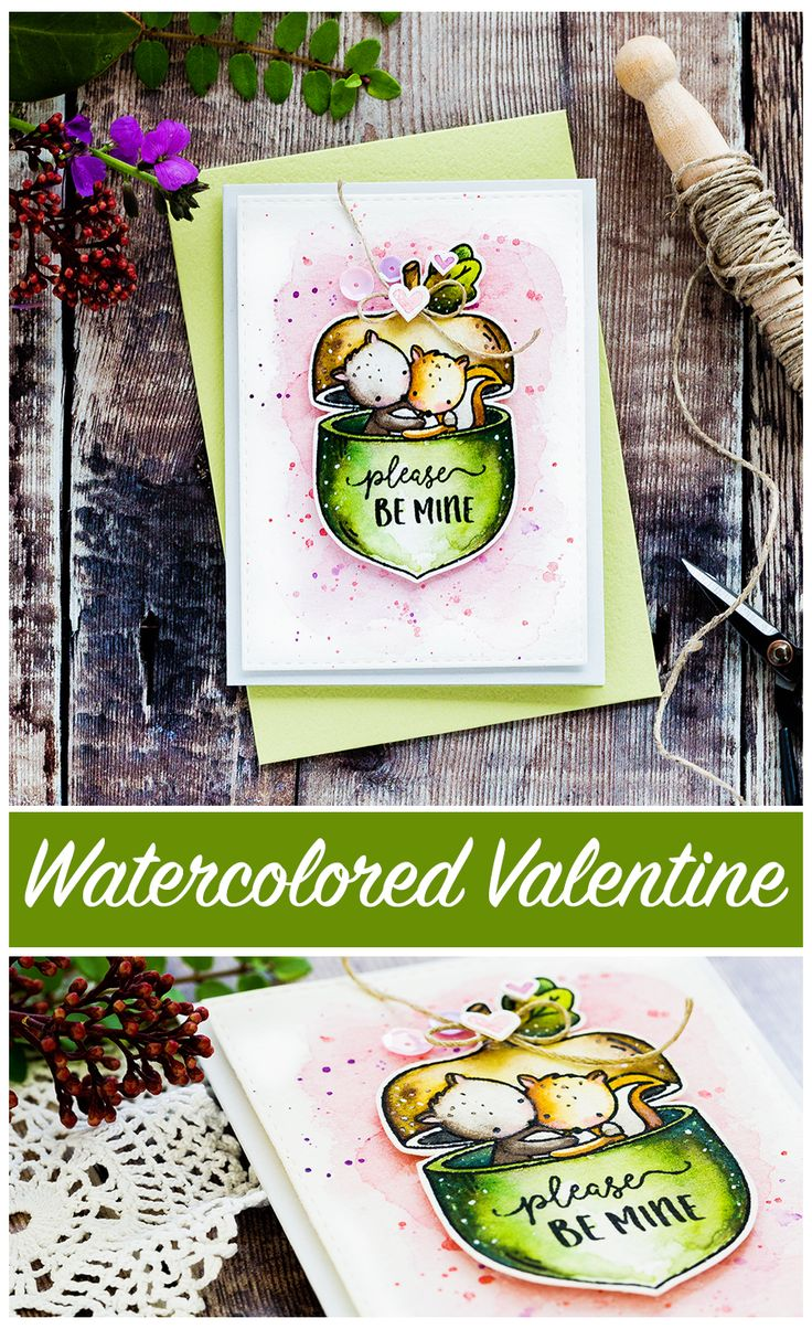 Please Be Mine - My Favorite Nut. Cute squirrel Valentine's card by Debby Hughes using the My Favorite Nut set from Neat & Tangled. Find out more by clicking on the following link: http://limedoodledesign.com/2017/01/please-be-mine-my-favorite-nut/