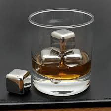 Stainless steel whiskey stones, a terrific gift idea