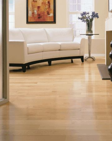 Maple hardwood floors are excellent for high-traffic areas, as they—like oak—are the lighter-hued and more natural of hardwood floor options; dark colors tend to show traffic more quickly, and need special attention later when it comes to recoating.
