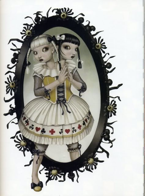 Trevor Brown, Alice through the looking glass. i want that as a pendant! all it takes is a printer! modge podge!