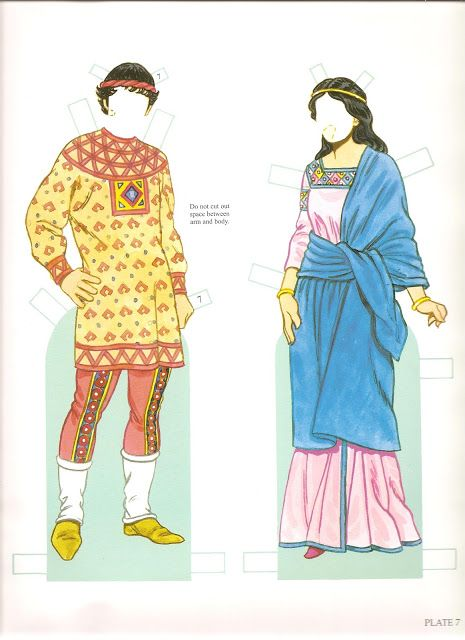 Byzantine Costumes Paper Dolls | Gabi's Paper Dolls  Not sure on the historic authenticity, but cool nonetheless.