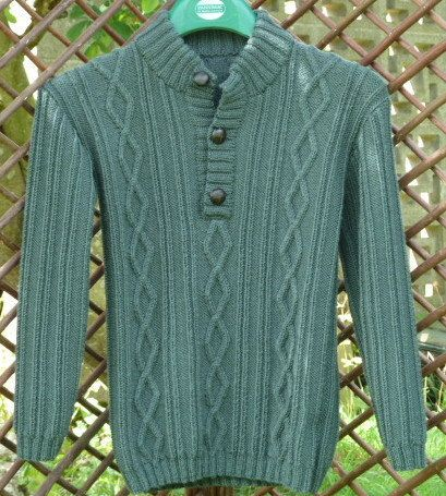 Army Green Boys Sweater Cashmere Blend Sweater by CJsHandknits on Etsy