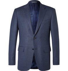 CanaliBlue Slim-Fit Slub Wool Travel Blazer