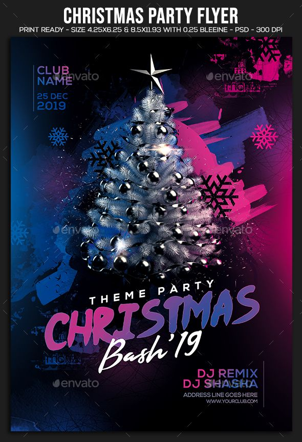 christmas party flyer template psd easy editable text cmyk 300