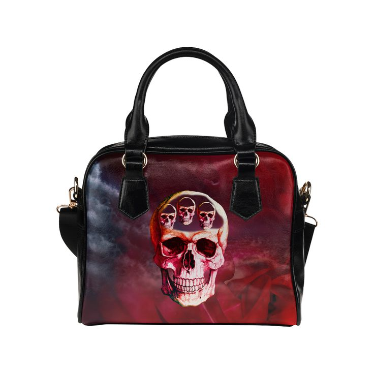 Funny Skull Shoulder Handbag (Model 1634)