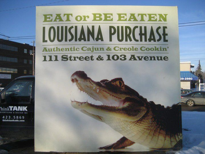 Eat or be Eaten! This Mobile AdVan campaign certainly gave Louisiana Purchase a lot of attention #outdooradvertising #mobilebillboard #alternativeadvertising #outofhomemarketing