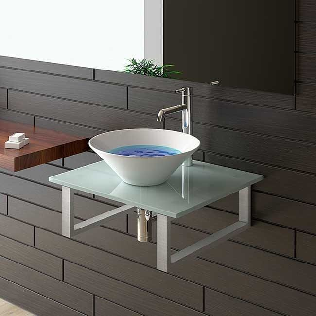 Serie 50 Keramik Waschbecken 43 Cm Milchglas 60 Cm Platte Alpenberger Kont Wooden Bathroom Cabinets Fitted Bathroom Furniture Bathroom Wall Cabinets