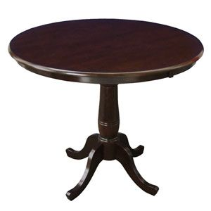 Black Round Pedestal Dining Table Home Styles Furniture Dining Tables Dining Tables Kitche