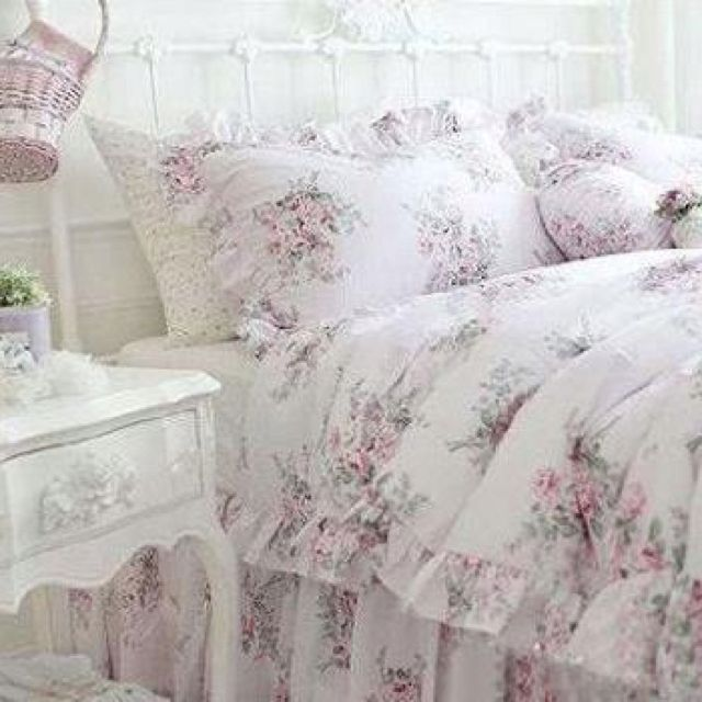 image detail for shabby chic style pink roses cotton bedding sheet set picture