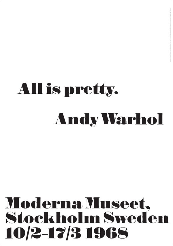 Moderna Museet Webbshop - Andy Warhol - All is pretty.