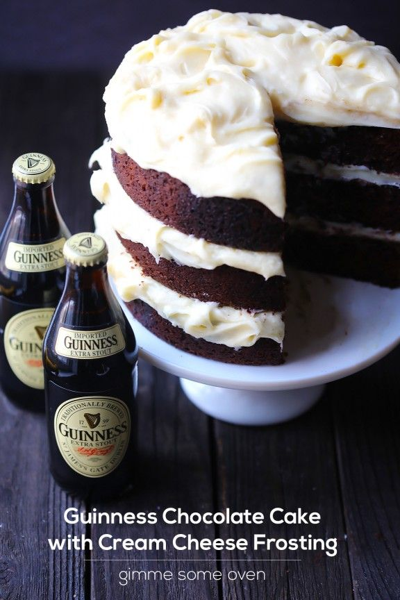 Guinness Chocolate Cake with Cream Cheese Frosting | *make it with Bailey's cream cheese frosting!?gimmesomeoven.com