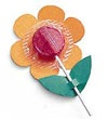 "LOLLIPOP FLOWERS Lollipop Flowers These colorful candy blossoms make a great centerpiece for your party table.The petals and leaves are simply cut colored paper. Affix the petals with tape and cut slits in the leaves. For a special touch, arrange a bouquet by inserting the lollipop ""stems"" into a Styrofoam dome (sold at most craft stores)."