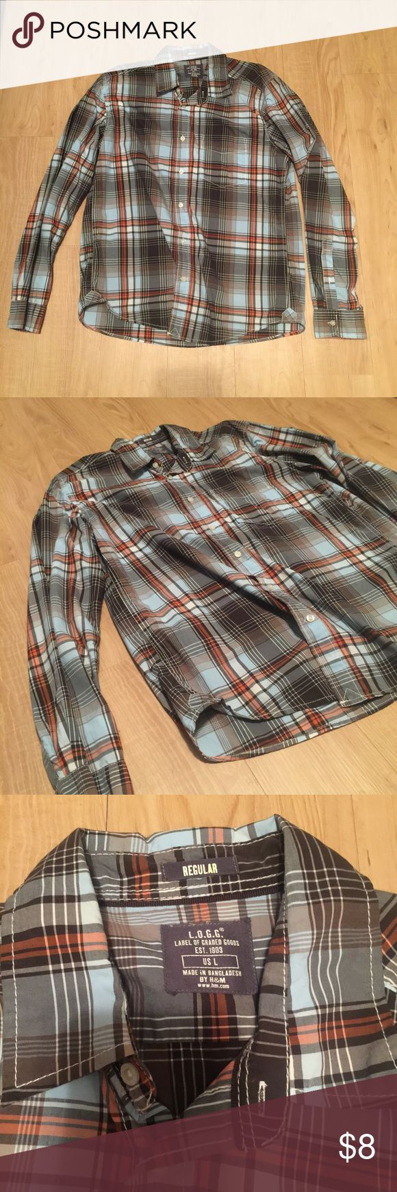 L.O.G.G. Men's Plaid Shirt Great condition, worn only once. Large and fits like a large. Bundle to save! No rips, tears or defects! L.O.G.G. Shirts Casual Button Down Shirts