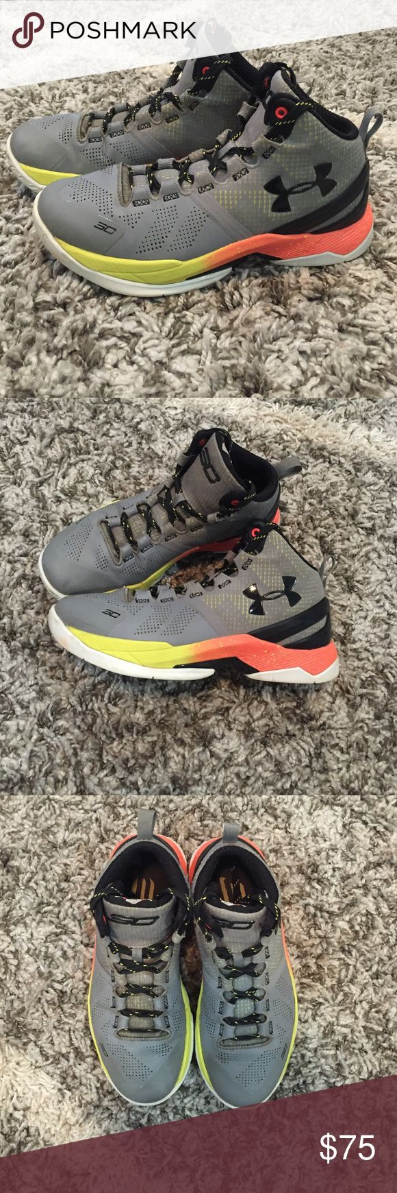 UA Stephen Curry UA Steph Curry youth basketball shoes. Used one season slight creasing. None smoking home. Under Armour Shoes