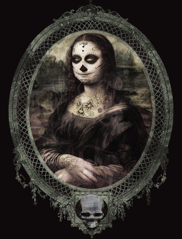 Monalisa do dia das Bruxas