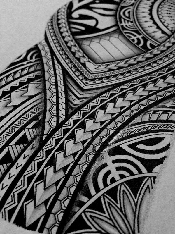 d3bace21c9e82 I created a Polynesian half sleeve tattoo design for my brother, displaying  many of the typical patterns shown in Polynesian art.