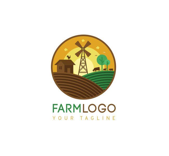 Pre-made Farm #Logo +Free Business Card Design