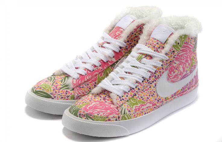 Chaussure Nike Blazer High Fourrure Pitaya Femme