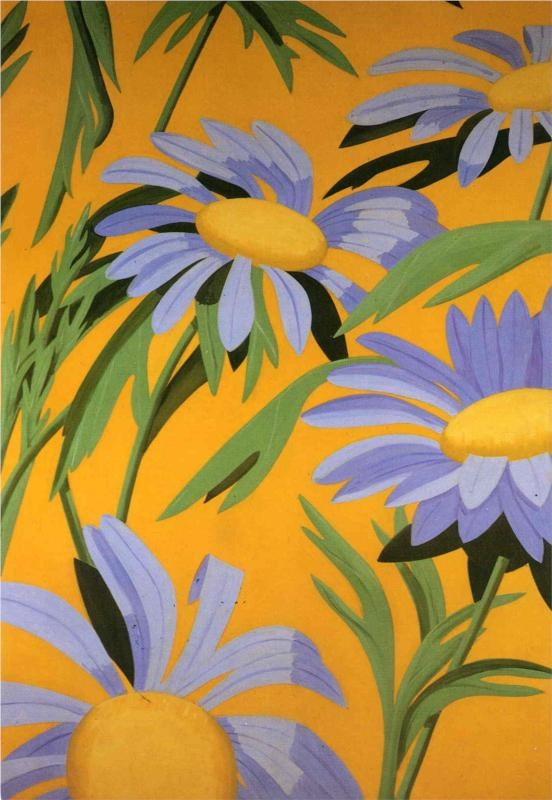 Violet Daisies by Alex Katz
