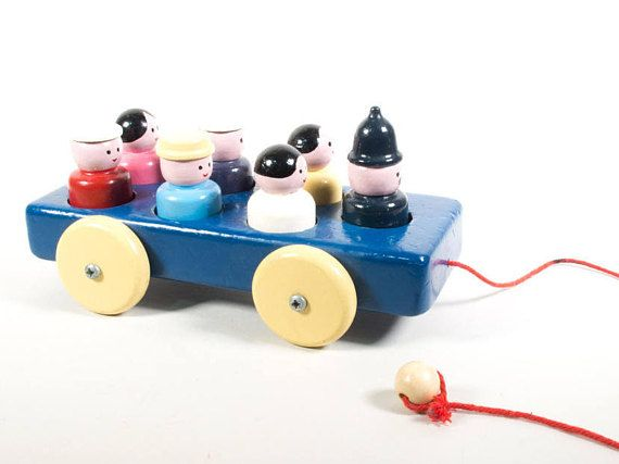 Becor toys car pull along toy collectable toys wooden toys