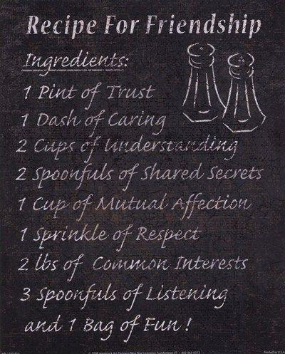 Recipe for Friendship