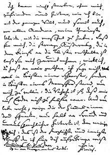 Abschiedsbrief Heinrichs von Kleist