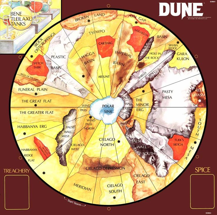 The planet of Arrakis from Frank Herbert's Dune