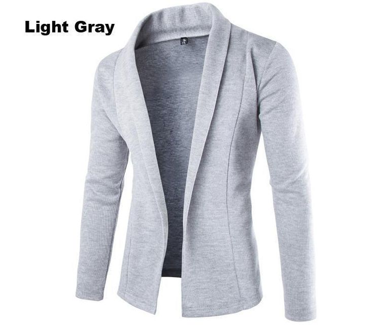 Men's Cardigan Sweater , Long Sleeve Sweater Casual Slim Fit Male Sweaters  Size M--XXL