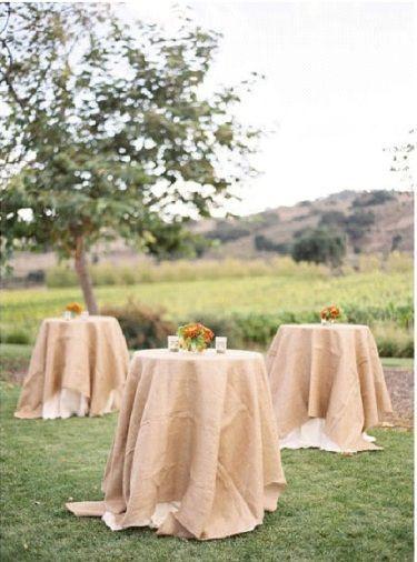 {Décoration Mariage} Les mange-debout du vin d'honneur