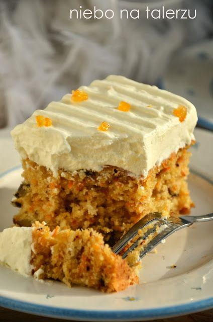 Najlepsze ciasto marchewkowe. Zupełnie nie smakuje marchewką, bez obaw. Jej dodatek powoduje, że ciasto jest wilgotne,soczyste,