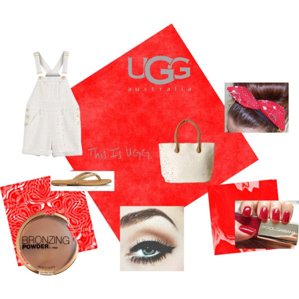 hit the road with uggs by sparklesandally on Polyvore featuring Moschino, UGG Australia, H&M and Dolce&Gabbana